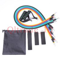 Wholesale 200SET HHA413 Latex in set resistance bands kit fitness bands exercise bands resistance bands