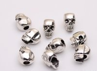 Wholesale New Arrival silver color DIY beads fits for bracelets necklaces andora charms skull beads