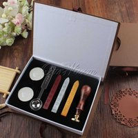 Wholesale Vintage Classic Sealing Wax Stamp Set with Gift Box Love For you Thank you Good Luck for Choose