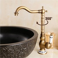 beelee faucet - Beelee BL1017A New Arrive Deck Mounted Single Handle Bathroom Sink Mixer Faucet Antique Brass Hot and Cold Water