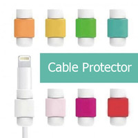 Wholesale Silicone Digital cable Cord Protecotor Lightning Saver Protective sleeves cable cover For iphone ipad Cables