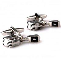 Wholesale Fashion Cuff Links microphone Cufflinks men s Cufflinks men s accessories