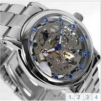 apache glass - Automatic mechanical watch authentic IK apache hollow out big dial Waterproof watch men sport men s watch