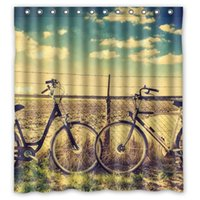 bathroom decoration pictures - 2015 Newest Design Polyester Shower Curtain Printed Creative Theme Bike Beautiful Picture Bathroom Decoration quot x quot inch