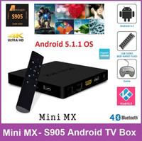 mini tv - Original Mini MX Andorid TV BOX Amlogic S905 Quad Core GB GB M Lan K KODI Pre installed Mini PC