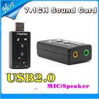 Wholesale Virtual Channel USB D External Audio Sound Card Adapter DHL