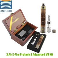 as picture wood - X Fire E Fire Wood Tube Mods E Cigarette ELectronice Cigarette Mechanical Mod Mods Protank II Atomizer variable voltage efire wooden battery