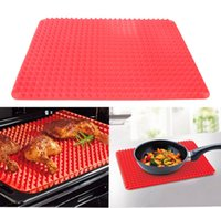 silicone baking mat - Pyramid Bakeware Non Stick Silicone Baking Pan Mat Low Fat Oil Pad Cakes Cooking Tools mm CT014