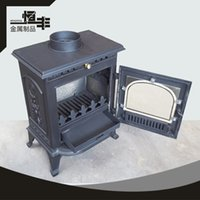 Cheap Small cute cast iron heating furnace, real wood burning fire cast iron fireplace, apply a small family