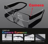 achat en gros de mode hide-Mode Full HD 1080p caché caméra espion enregistreur vidéo audio lunettes lunettes V13 caché caméra vidéo / lunettes de soleil mini caméra livraison gratuite
