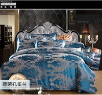 advantage homes - d022 Multi color bedding set four piece set wedding advantages and CASS Satin Jacquard piece suit