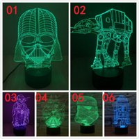 Wholesale 20pcs styles Star wars The Force Awakens Night Lights color LED touch switch table lamp