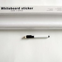 Wholesale pc cm cm Teaching Office Whiteboard Wall Stickers Stickers Affixed Environmental Trade Whiteboard Graffiti White Stickers
