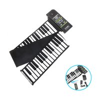 Wholesale US Plug Key Electronic Piano Silicon Keyboard Flexible Roll Up Piano with Loud Speaker Top Quality