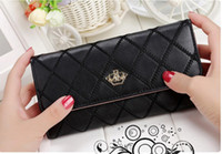 Wholesale Han edition of the new clan embroidery flower fashion ling long purse wallet sale madame metal crown