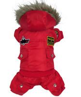 Низкая цена Горячая зима теплая маленькая собака Pet Одежда Мягкий толстовка с капюшоном Комбинезон Брюки Одежда XS-XL бесплатная доставка