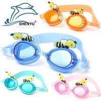 Wholesale 2015 Children Swimming Goggles Swimming Glasses Kids Boys Girls Diving Mirror Glasses Earplug Nose Clip Swim Eyewear Christmas Gifts