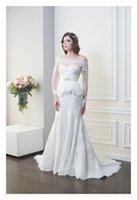 Cheap Trumpet/Mermaid Mermaid Wedding Dress Best Reference Images Off-Shoulder Detachable Wedding Dress
