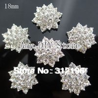 Wholesale Clear Crystal Rhinestone Acrylic Rhinestone Buttons For Embellishment Hair Garment Accessories