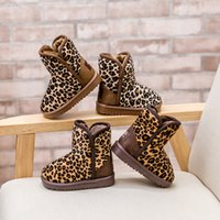 Wholesale 2015 boys and girls children s winter boots short boots baby snow leopard boots year old children shoes warm shoes