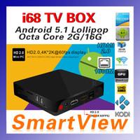 Wholesale Original I68 Smart TV Box Android RK3368 Octa Core GB GB H K KODI Bluetooth HDMI2
