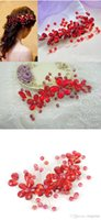 Wholesale 2014 Hot Selling Red Crystal Bridal Hair Accessories In Stock Wedding Accessory Evening Party Cocktail Cheap Women Jewelry Made In China WX