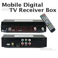 Cheap Wholesale-2 Tuners Mobile Car Digital HD TV DVB-T Receiver Box w HDMI 1080i HDMI Output, Support OSD Teletext