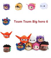 go go costume - Tsum Big Hero Baymax Go Go Fred Honey Lemon Wasabi Plush Toys Smartphone Cleaner Small Pendant Anime Birthday Gifts kids toys for children