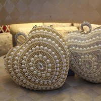 accessories bridal bag - Elegant Sweetheart Bridal Handbags Faux Pearls Diamonds Stunning Top Quality In Stock Prom party Vestidos Accessories Wpmen hand Bags WWL