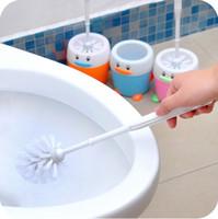 Wholesale Gustless toilet brush little penguin belt toilet brush fashion bathroom WC60