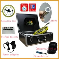 sewer pipe inspection camera - 2015NEWEST M cable Video pipe inspection camera CCTV Drain inspection system Sewer endoscope fiberglass cable
