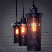 ac a pendant - Modern Edison Personality Industrial Lighting Counter Lamps Vintage Pendant Lights Pendant Lamp Edison Bulbs AC V A