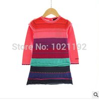 Cheap Wholesale-2015 new Korean models girls skirt foreign trade children's clothing wholesale colored sweater