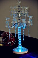 battery operated candelabra - Super Lithium battery operated romantic Inch LED crystal candelabra wedding centerpieces Decorative Light Base