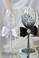 champagne flutes - Wedding Supplies Champagne Flutes Covers Bow Crystal Winebowls Party Decorations