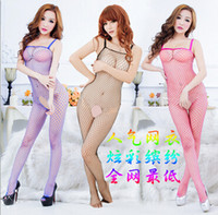 adult clothes - Hot Asian Leotards Clothes Sexy Babydoll Pink Unitard Lingerie Open Crotch Compression Fishnet Dress Adult Sex Products