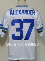 alexander football - Factory Outlet Shaun Alexander Men s Throwback Football Jersey Embroidery and Sewing Logos Size M XL Accept Mix Order