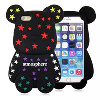 bear mating - 3D Cartoon Teddy Violent Violence Gloomy Bear Atmosphere Silicone Rubber Cover Cases For iPhone S Plus Huawei Honor Ascend Mate Mate7