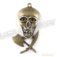 axe head - New Alloy Skull Head Knife axe Shape Pendants Antique Bronze Plated Charms mm Fit Jewelry Necklace Findings
