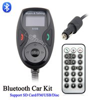 Cheap Wireless Bluetooth Hands-free Car Kit Stereo Speakerphone With Remote Control Noise Suppression Fit USB Disc SD Card Mp3 FM Auto