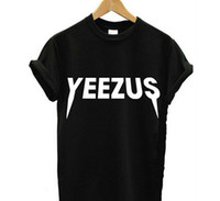 Wholesale 2016 YEEZUS Print Women t shirt Casual Cotton Harajuku Funny Sport Tops T Shirt Summer Style Tees Whtie Black Plus Siz
