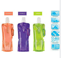 Wholesale Portable folding water bag outdoor equipment kettle water bags sports bottle ml SWB1001