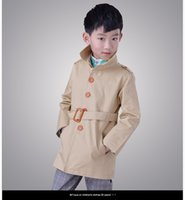 big costs - Autumn Wear For New Arrival Fashion Single Breasted Turn Down Collar Big Boys Trench Costs Leisure Joker Children Tops K346
