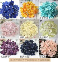 Wholesale Artificial Hydrangea Flower Silk Flowers Single Hydrangeas for Wedding Arrangement Home Party Decoration