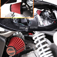Wholesale MOTORCYCLE SCOOTER CHOPPER GY6 mm mm mm MUSHROOM HEAD AIR INTAKE FILTER CLEANER RED GREEN order lt no track