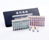 Wholesale Travelling Mini Mahjong Portable Majiang sets Table game Mah jong Sports Entertainment play anywhere epacket
