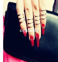 gothic jewelry - New fashion jewelry Gothic punk style finger ring for women girl mix multiple item R825
