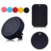 Wholesale 360 Rotating Magnetic Dashboard Car Air Vent Cell Phone Mount Holder for iPhone Samsung Etc Magnet Vehicel Outlet Bracket for All Phones