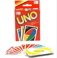 Wholesale UNO playing cards cooper paper high quality funny board game uno playing cards english rusian rules optional