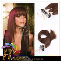 100% Brazilian Virgin cheveux Straight Micro boucle boucle extensions 18 '' - 24''inch Brésiliens pré-collé Extension de cheveux